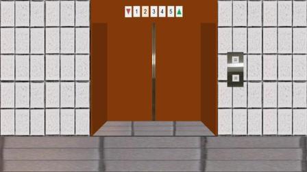 国外的模拟GoldStar跳灯电梯