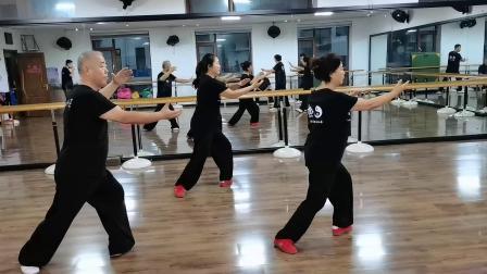 南岔太极拳协会会长李学民晨练新编28式太极拳 (带口令)