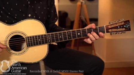 新加坡高端手工吉他美诗特Maestro复古一个蛋桶型O-IR印度玫瑰木背侧Brian Love演奏英国北美吉他录制