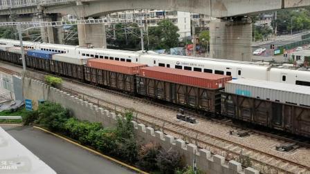 23020次货运列车交汇CRH2重连动车组