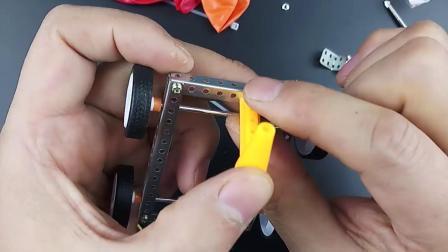 科学实验磁吸车橡皮筋小车气球车制作视频
