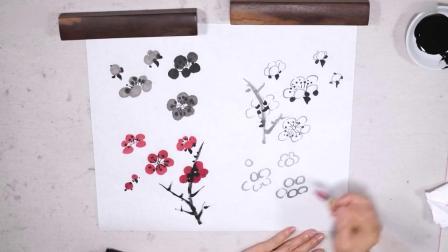 中国画的绘画技巧 初学国画入门应该准备点什么 牡丹花