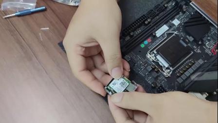 映泰Z490GTN 迷你小板 WIFI6 无线网卡安装教程