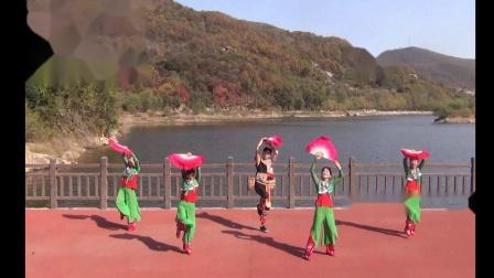 扇舞 第四套健身秧歌《微山湖》表演者  泓儿  妮儿  宝儿  鱼儿  泓儿