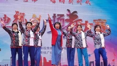 宝鸡广场舞大赛 10 红色歌舞《绣红旗》(20201025)