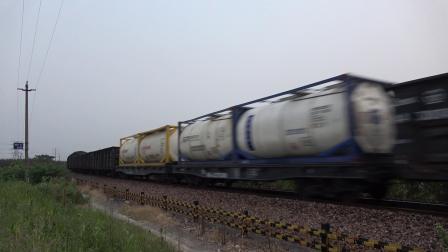 货列 45366次 HXN50295 通过宁芜线K76KM马鞍山芦杨村附近