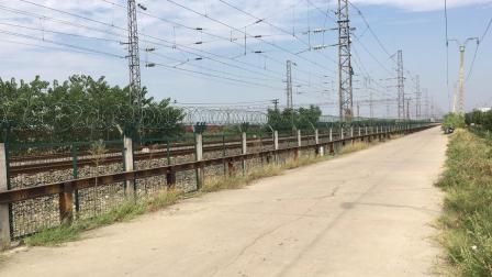 武局襄段HXD3C牵引客车K206次快速通过襄阳北站去襄阳站方向