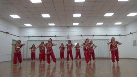 印度舞蹈  美丽姑娘 习舞 高二舞蹈队