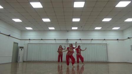印度舞蹈  美丽姑娘  习舞  小华,娅娅,荣美