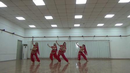 印度舞蹈   美丽姑娘  习舞  月亮,云云,巧桂,雯雯