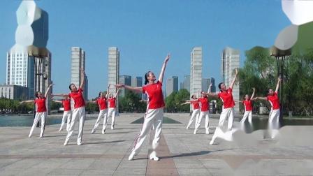 余国英、沈宏伟老师原创广场舞 《幸福小康》、哆来咪团队演示