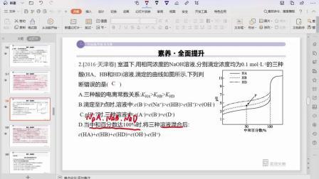溶液中粒子浓度关系一例