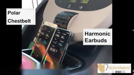 Harmonic心率耳机与 Polar心率带的对比#WBD101#心率