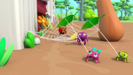 小蜘蛛爬水管