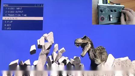 Roland V-02HD 视频切换台:视频特效,抠像,马赛克等演示