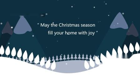 圣诞电子贺卡英文版定做PPT模板视频素材模板可发邮箱正文邮件的英语圣诞节贺卡