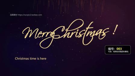 圣诞老人乘坐麋鹿圣诞节电子贺卡英文版发给国外客户的英语圣诞贺卡