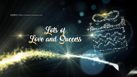 圣诞节英语版圣诞电子贺卡圣诞树视频素材PPT模板动画