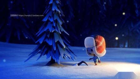 创意圣诞节电子贺卡素材模板PPT素材动画视频素材英文版