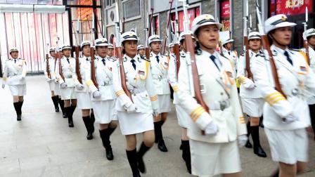 北市场仪仗队训练
