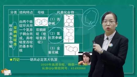 执业药师中药师考试视频 中药学专业知识一 润德教育 第1节 生物碱细目1-2