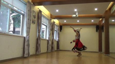 藏族舞蹈  心上的罗加  习舞:月亮