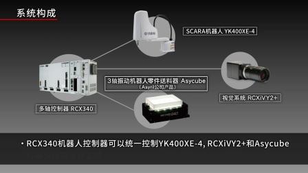 【散货零件的自动化】SCARA × Asycube ×视觉系统「RCXiVY2+」