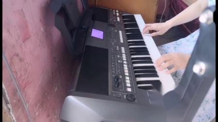 云淡风轻电子琴演奏---《祝你平安》