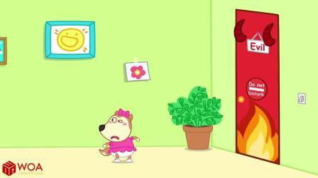 儿童卡通片:小萌娃们与奇怪的大门