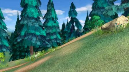 熊出没:熊大熊二练习滑草,意外连发,爆笑!