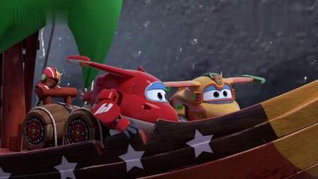 超级飞侠:鲁诺当上船长,指挥乐迪和巴奇,成功逃离大老鼠的追击