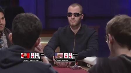 德州扑克:55幸亏跑的早,要不然得输惨了