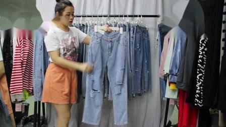 新款女装精品女装批发服装批发女装货源时尚女士新款牛仔长裤可挑款20件起批