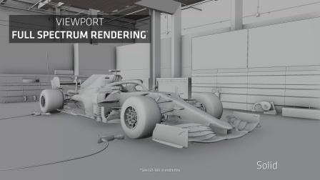 通过Radeon ProRender制作精美的梅赛德斯F1赛车3D渲染图
