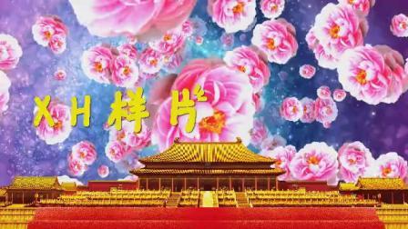 B916有一个姑娘少儿古典宫廷舞蹈皇宫牡丹配乐成品led大屏幕背景视频素材