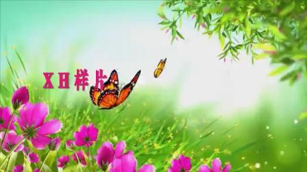 B918祖国的花朵少儿歌曲配乐成品舞蹈春天春暖花开鲜花草地蝴蝶l桃花花仙子led大屏幕背景视频素材