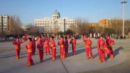 北镇方圆广场秧歌舞蹈队《舞蹈-中国美》制作-东明2020.12.25 (2)