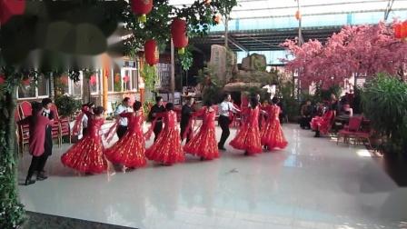 北镇万隆舞蹈队《新年舞会》(集体交谊舞-桑巴)制作-东明2020.12.26