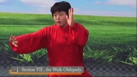 08)郑冬霞陈氏太极拳精要十八式 第7式 斜行