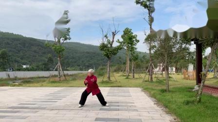 曹溪河畔练陈式太极拳