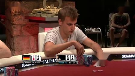 德州扑克:WPT巡回赛精彩手牌18 :夺冠还是需要点运气啊