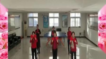 遵化开心广场舞,东三里舞蹈队学跳美舞对面的小姐姐.mpg