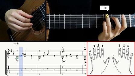古典吉他独奏-月亮河-Moon River 带谱教学-GQ121-2010