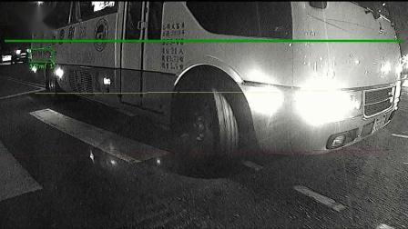 伟诠WT8911 + AI Box 在白天/夜间/雨天 进行车后盲区汽、机车、行人等侦测