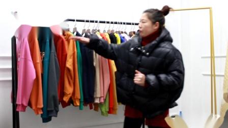 阿荣服饰视频第500期加绒加厚卫衣走份800元/25件(超值价)