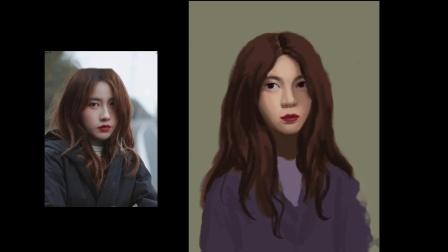 iPad绘画油画人像全程示范快进版.mov