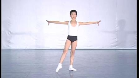 北舞附中古典舞舞蹈基础基本功示例课 男班1年级第1学期3 把下训练