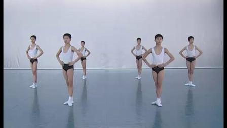 北舞附中古典舞舞蹈基础基本功示例课 男班1年级第3学期2 把下训练