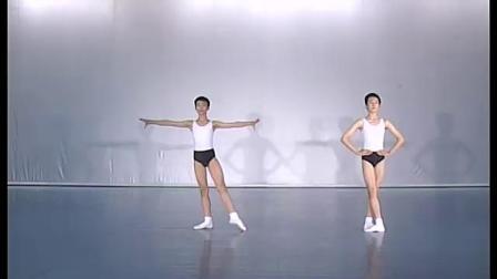 北舞附中古典舞舞蹈基础基本功示例课 男班2年级第1学期2 把下训练