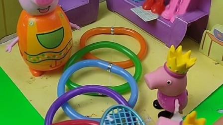 小猪佩奇买了笔,被乔治发现,不料乔治以为是手环